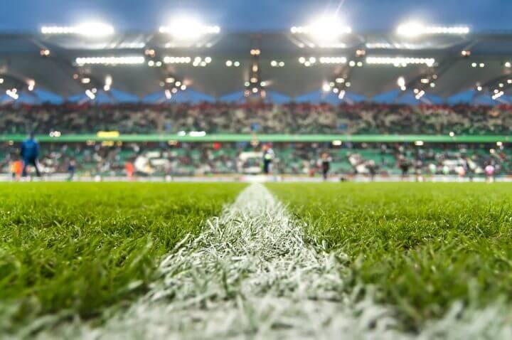 Stadium before a match