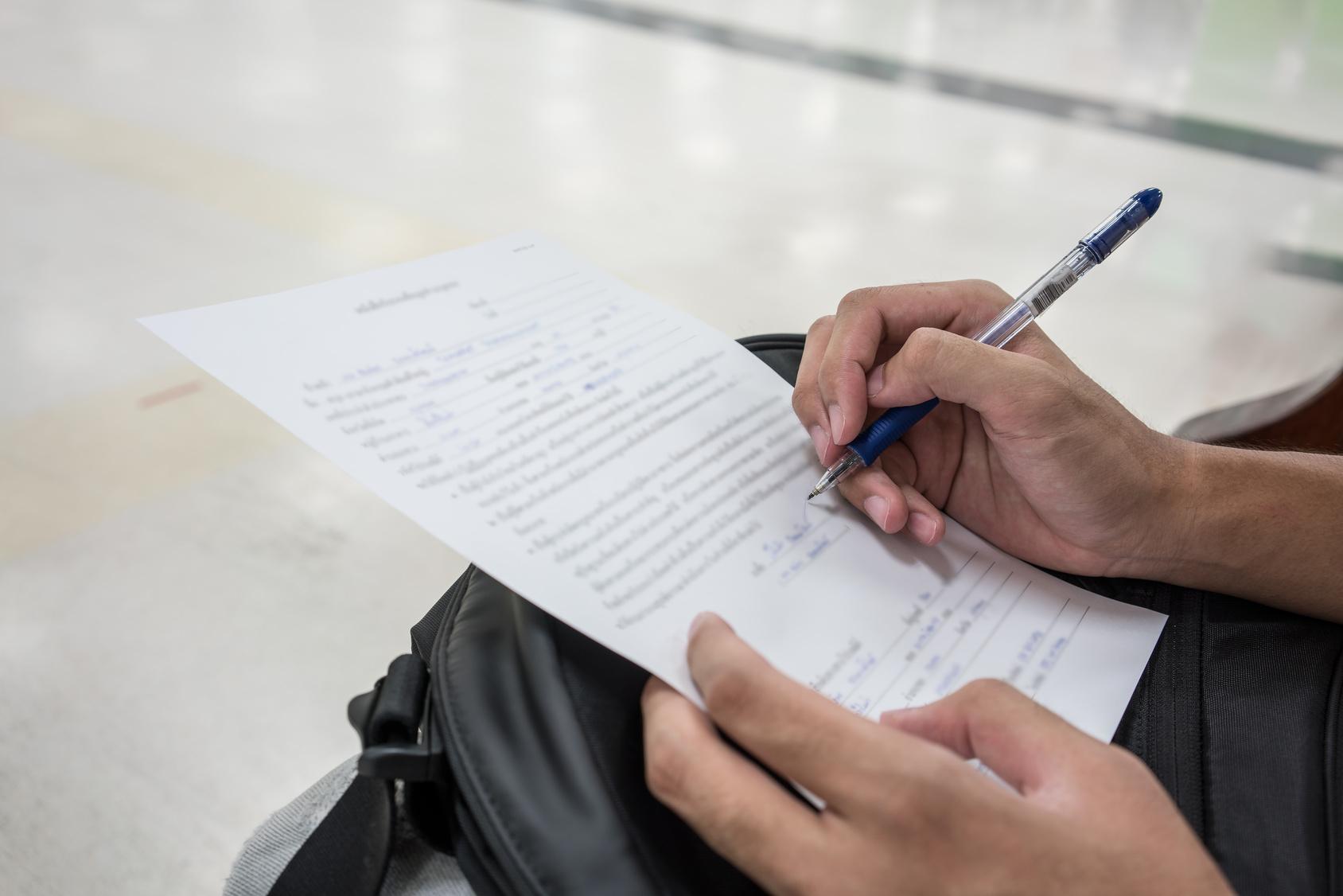 Filling application form for applying a job | Peninsula UK